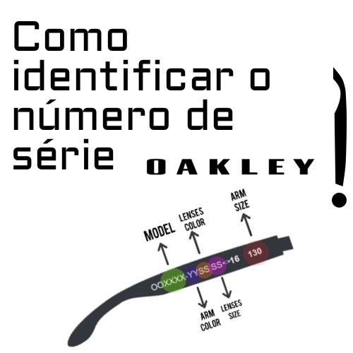 Como identificar o número de série Oakley